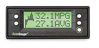 ScanGaugeE showing the built-in Fuel Effeciency Screen